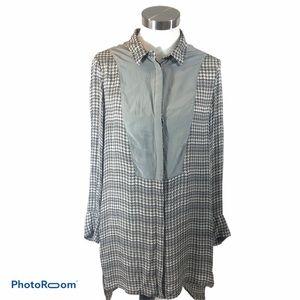 Rag & Bone 100% Silk Tunic Shirt Dress RARE Size 8
